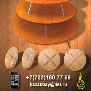 Круглые казахские столы - Жер үстелдер - Домалақ үстелдер
